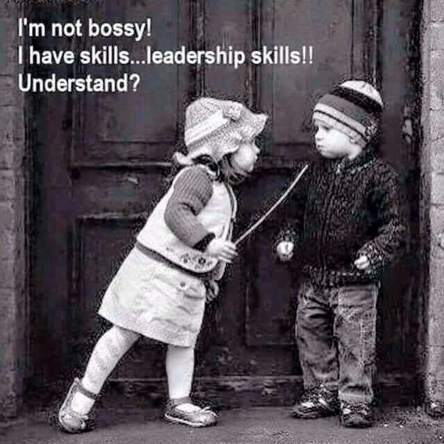I'm not bossy! I have skills... leadership skills!! Understand?