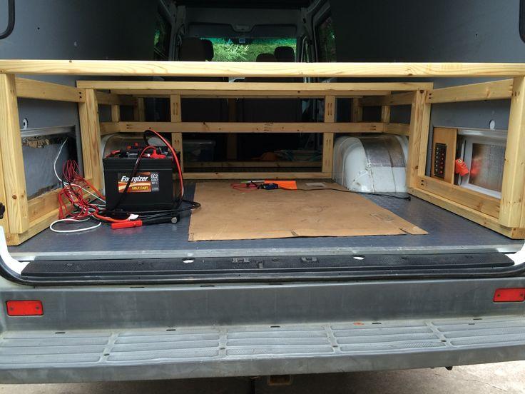 Bed Base Frame Sprinter Camper Interior Pinterest