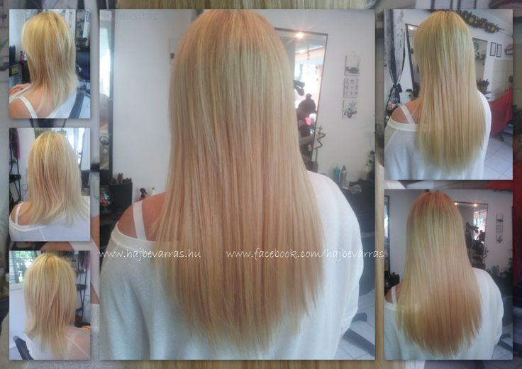 Hajhosszabbítás 2 soros, mikrogyűrűs felvarrással.  Hair extension before - after.  #hajhosszabbitas #hajdusitas  www.facebook.com/hajbevarras
