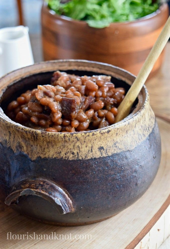 Traditional Quebec maple baked beans recipe (fèvres au lard) | Tourtiere (meat pie) | Sugar Shack Lunch | Cabane a sucre menu | A Year of Feasting - Spring | Traditional Canadian Quebec meal