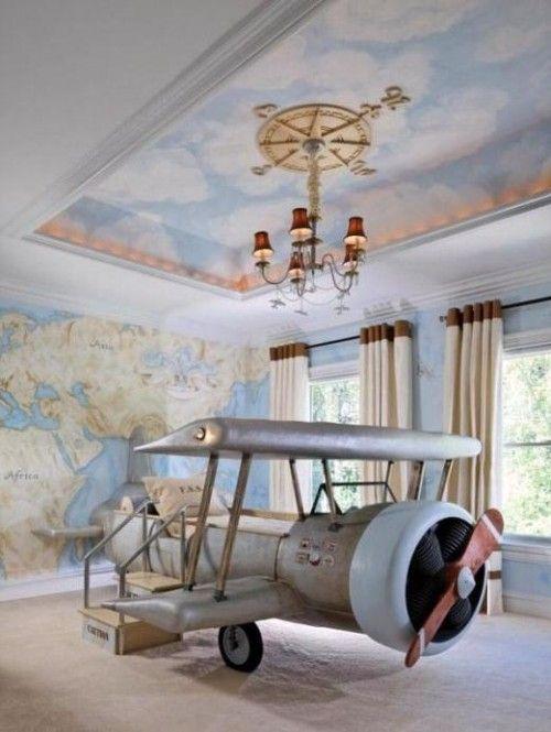 Super Cool Airplane Beds for Boys Bedroom Design with Aviation Theme | Furnikidz.com | Best Children Furniture Design