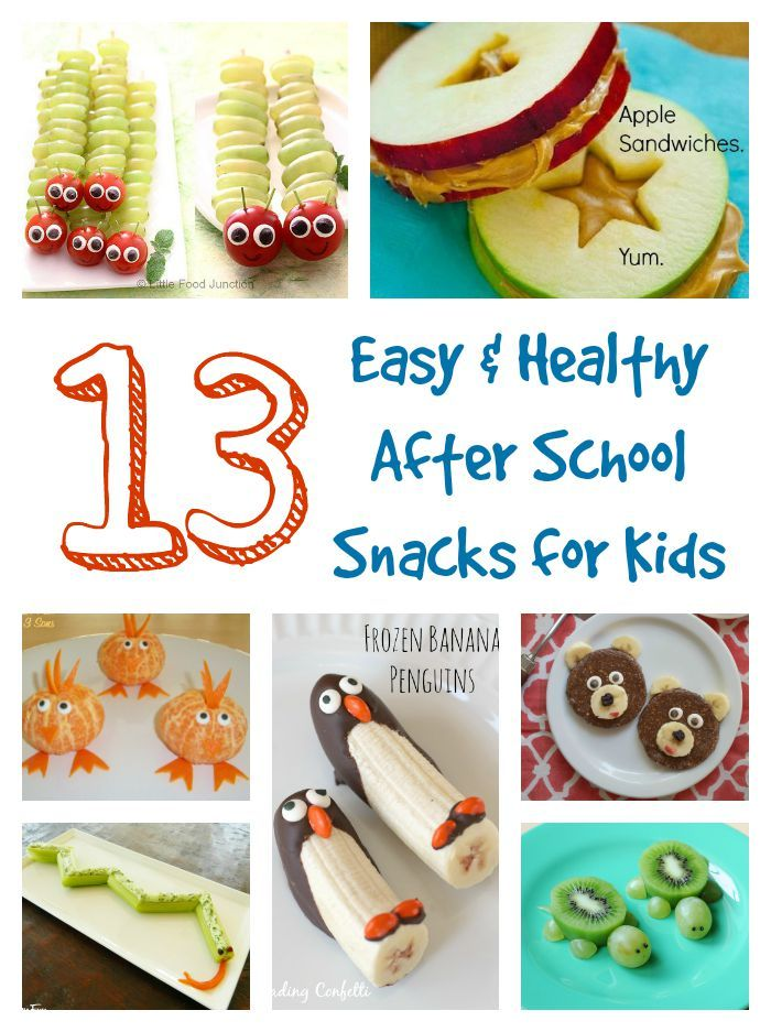 Easy and Healthy After School Snacks for Kids...also super cute!