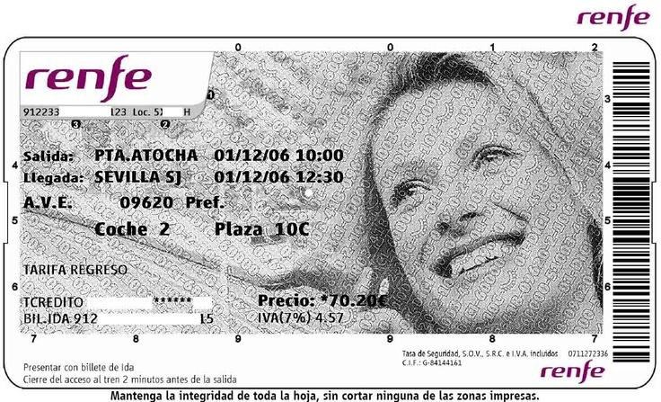 A2 - ¿Te gusta viajar? Aquí tienes un billete del tren de alta velocidad (AVE). ¿Por qué no me cuentas un viaje en tren?