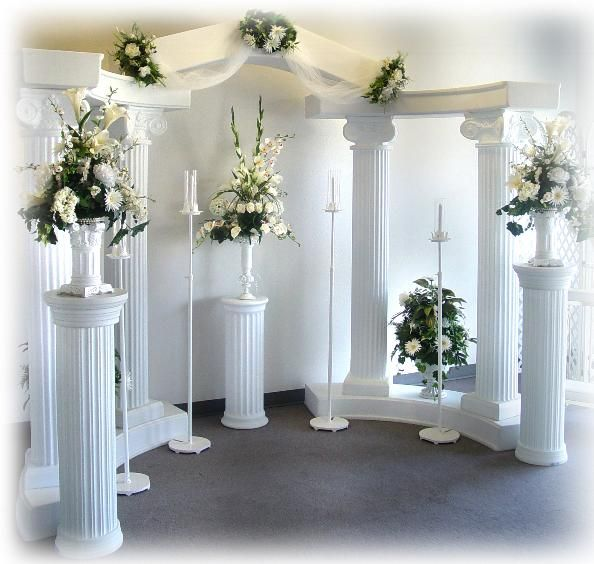 decorated wedding columns 602 best back drop ideas images on paper 3349
