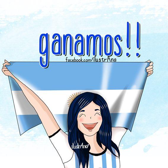 #argentina #ganamos #seleciónArgentina #mundial #brasil2014 #ilustrana #futbol #messi