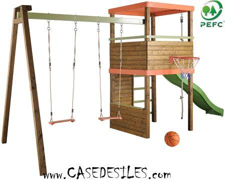 Jeu extérieur bois pour enfant 696 Pas Cher