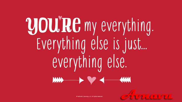 You're my everything, everything else is just everything else.. Lovely Romantic two line shayari by avnavu.com