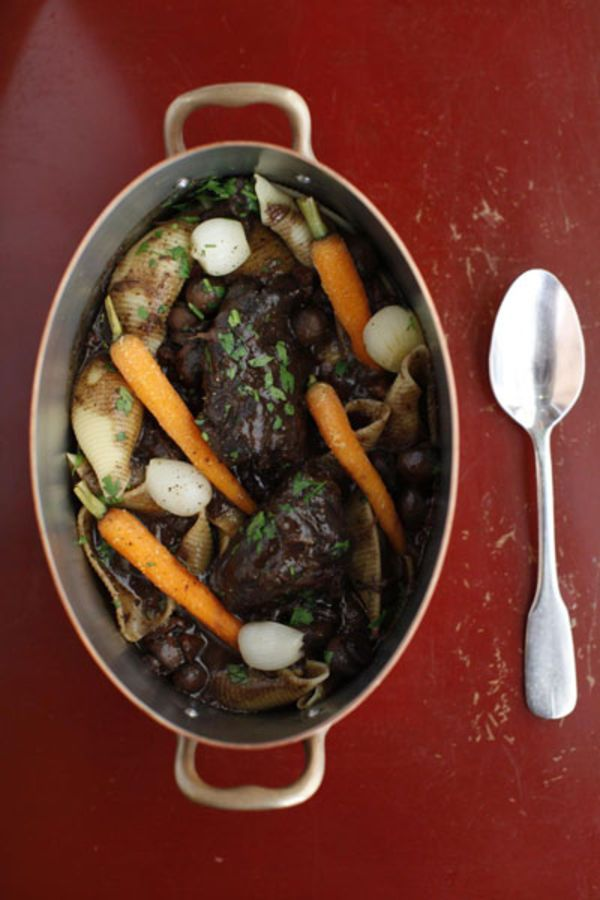 Braise beef cheeks in a heady marinade of red wine and aromatics for a supple, meltingly tender and elegant take on pot roast.