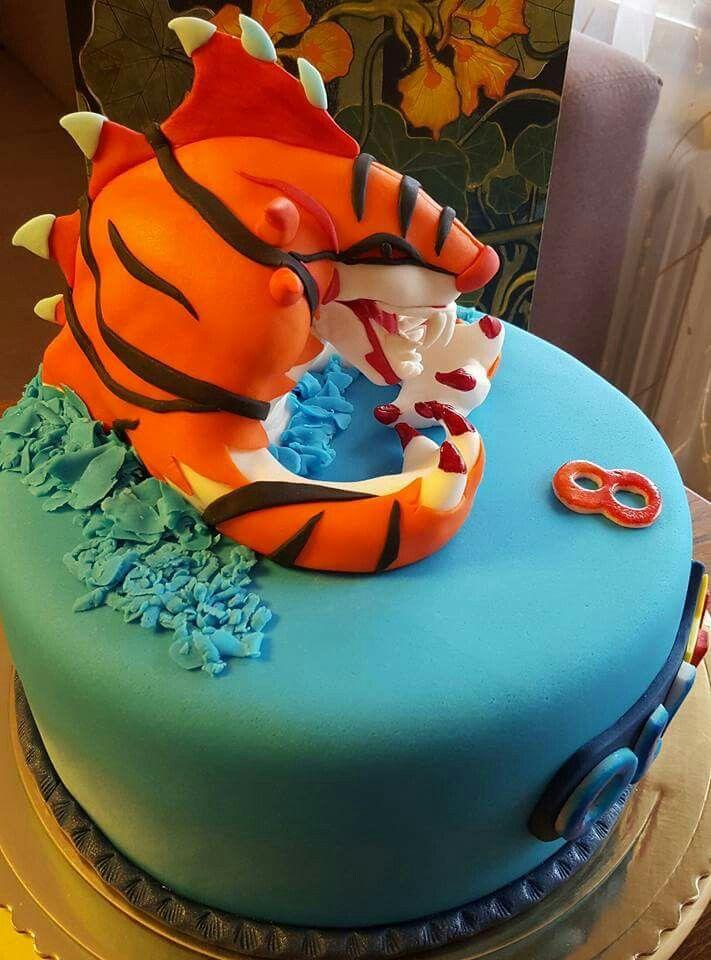 Invizimals cake .... inspiracja Catcakes