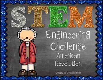 """Looking for fun, hands on ways to teach the next generation science standards? Looking for a way to integrate science, engineering and social studies? Try out a STEM challenge!This American Revolution STEM challenge has students building catapults that can launch a """"cannon"""" the farthest!The unit includes:Challenge prompt pageChallenge rulesTeacher tipsEngineering process poster Catapult research pages Engineering design process organizer (2 choices)Catapult data recording sheetsLine plot…"""