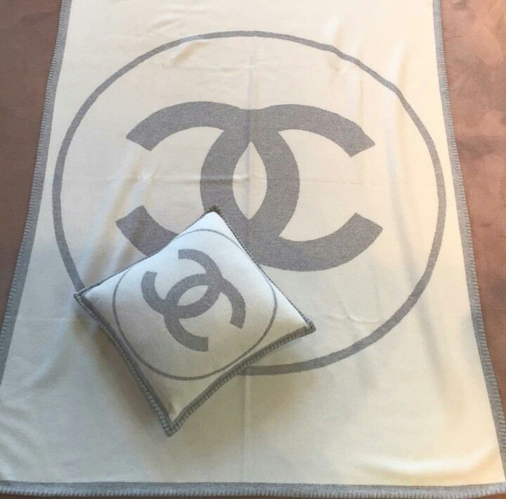 Chanel pillow & throw blanket