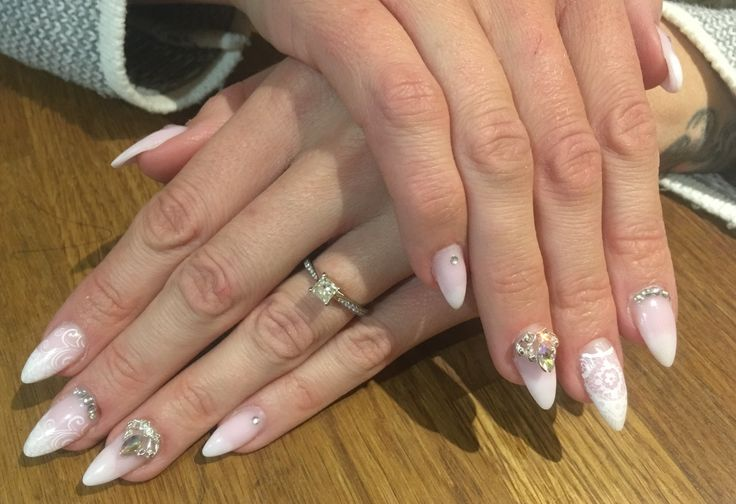 Beautiful nails, By Sam @ Michelles Hair and beauty salon in Selsey! Wedding nails by Sam xx