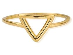 .925 Sterling silver triangle gold plated midi ring