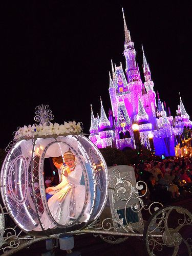 Because who doesn't love Cinderella in a carriage in front of her castle?