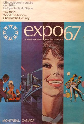 Vintage Expo '67 poster