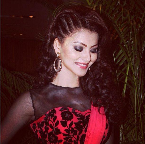 Urvashi Rautela Braided Hairstyle