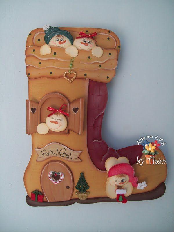 M s de 1000 ideas sobre adornos de renos en pinterest - Manualidades de navidad con goma eva ...