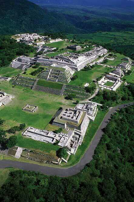 The ruins at Xochicalco, Mexico, a UNESCO World Heritage Site