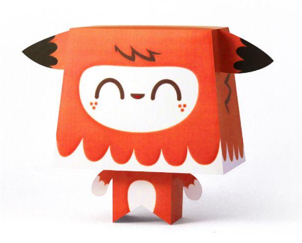 Blog Paper Toy papertoys Kawaiis Fox pic Les Kawaiis de Tougui (x 3)