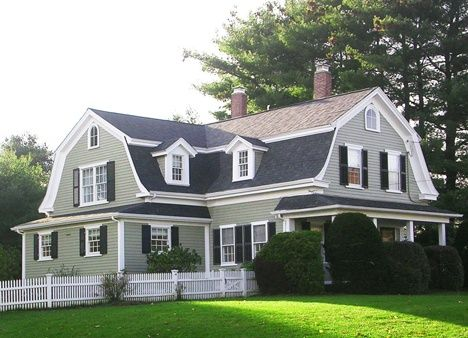 dutch colonial homes | Side gambrel addition to Dutch colonial