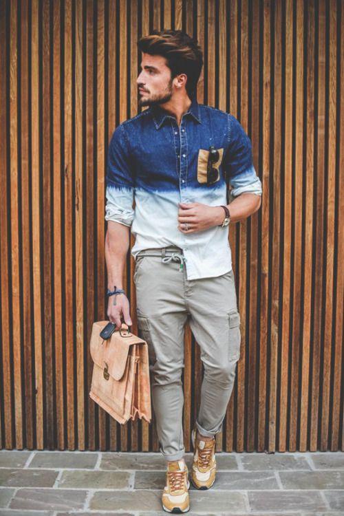 Men's Denim Shirt Inspiration   MenStyle1- Men's Style Blog