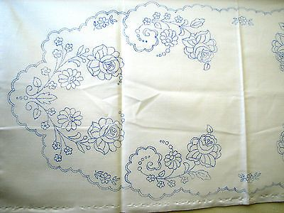 Hungarian Kalocsa stamped embroidery TABLE RUNNER dresser scarf doily #4 Hungary