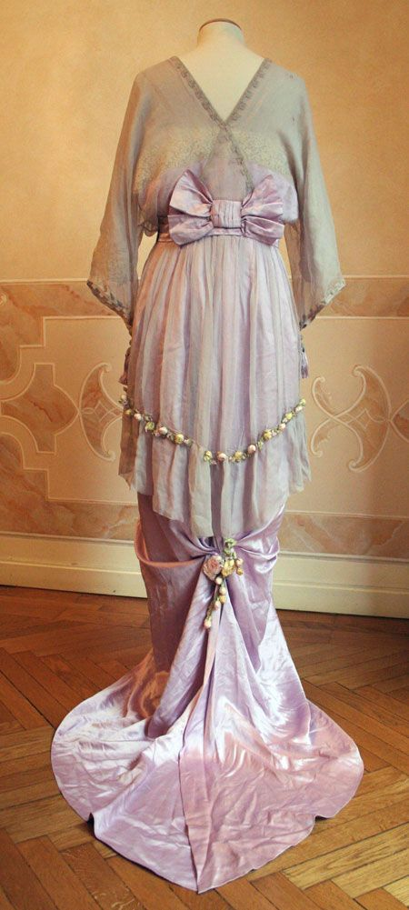 I just bought a truck load of museum pieces and one of the dresses is like this but better! Dress, ca. 1913