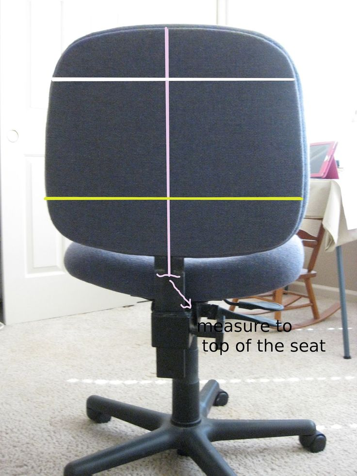how to measure for office chair cover