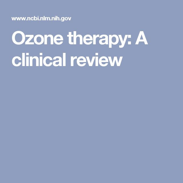 Ozone therapy: A clinical review