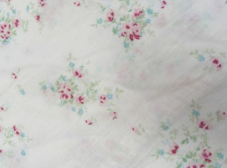 Vintage Blue & Floral Pink Roses Chic Baby Cot Crib Bedding Fitted Sheet New