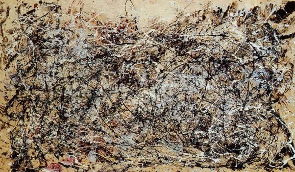 JACKSON POLLOCK ACTION PAITING  Número I, 1948. 1945 PARIS-NY.