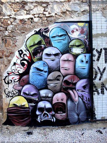 graffiti Mis Múltiples Personalidades. . . my multiple personalities