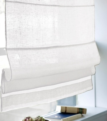 Pellavalaskosverho, valkoinen  hobbyhall