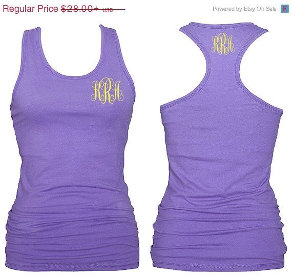 Monogrammed Racerback Tank for Kids by RedElephantClothing on Etsy, $23.00