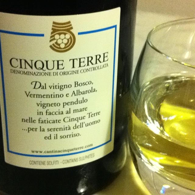 Cinque Terre DOC wine from Cantina Cinque Terre, a local agricultural cooperative
