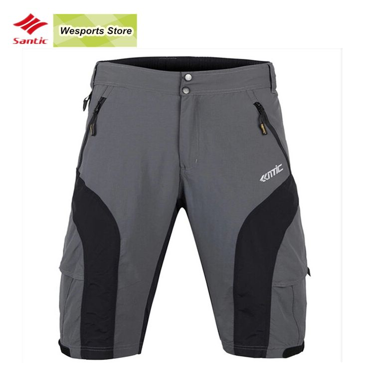 34.99$  Buy here - http://aliyqd.shopchina.info/1/go.php?t=32813740916 - SANTIC New Loose Cycling Shorts ciclismo MTB Bike Bicycle Running Leisure Shorts+3D Padded Cycling Underwear  #aliexpress