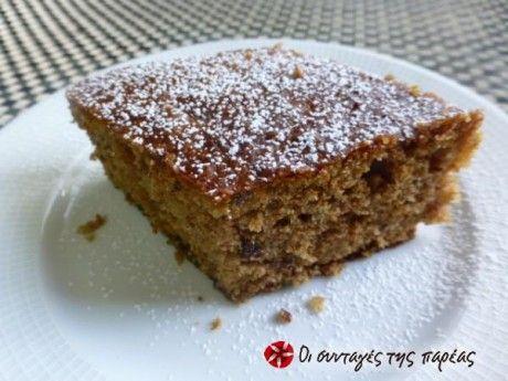 Ταχινόπιτα σιροπιαστή - Syruped hahini cake