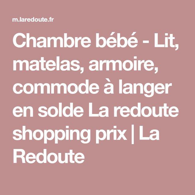 Chambre bébé - Lit, matelas, armoire, commode à langer en solde La redoute shopping prix | La Redoute