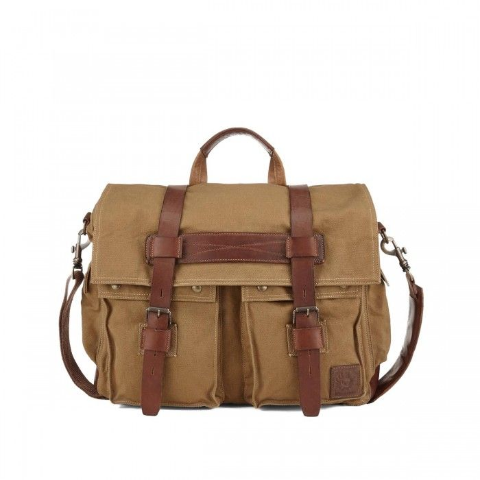 Belstaff Colonial Canvas Messenger Bag Front available at Betty Hemmings.