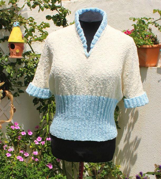 Sewingadicta: Cutaway Neckline Sweater