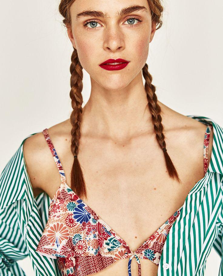 Immagine 1 di TOP BIKINI VOLANT di Zara