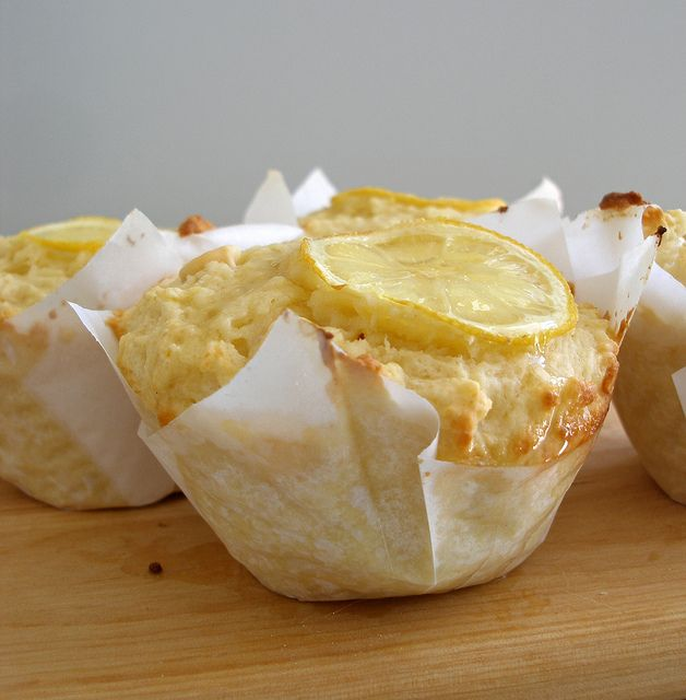 Lemon and White Chocolate Muffins with link to recipe