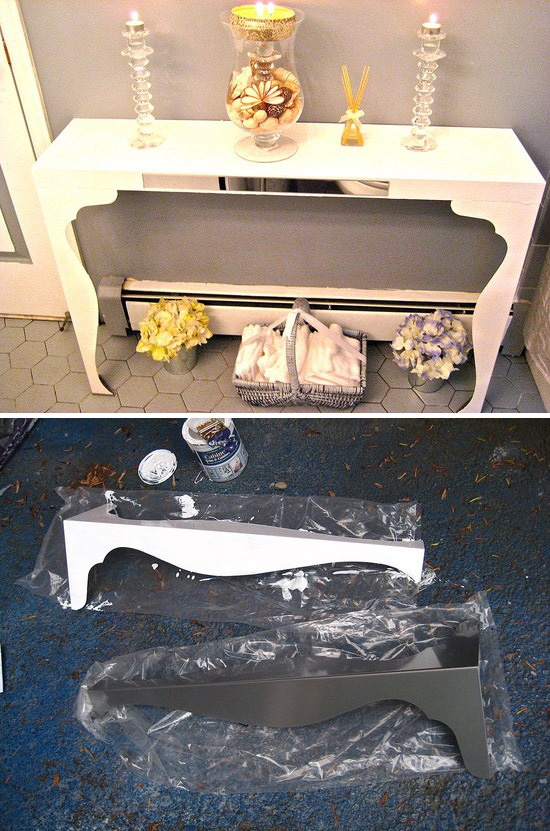 Ikea Hack Diy Console Table Lack Wall Shelf