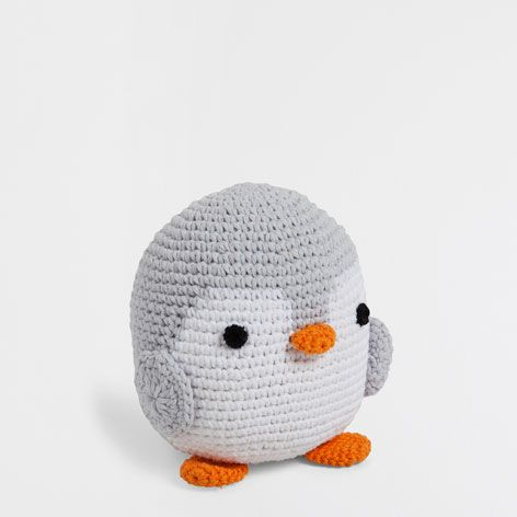 CROCHET PENGUIN SOFT TOY - Toys & Teddy - Decoration   Zara Home Denmark