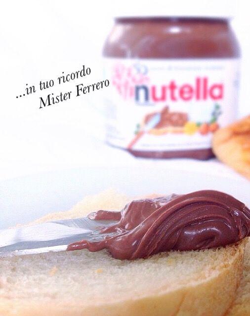 ...in ricordo di Mister Ferrero, la sua invenzione che detta perfezione nel mondo...