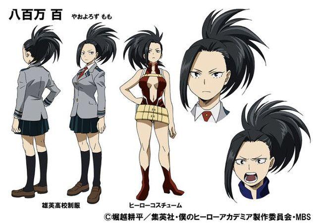 Marina Inoue tras la voz de Momo Yaoyorozu en el anime Boku no Hero Academia