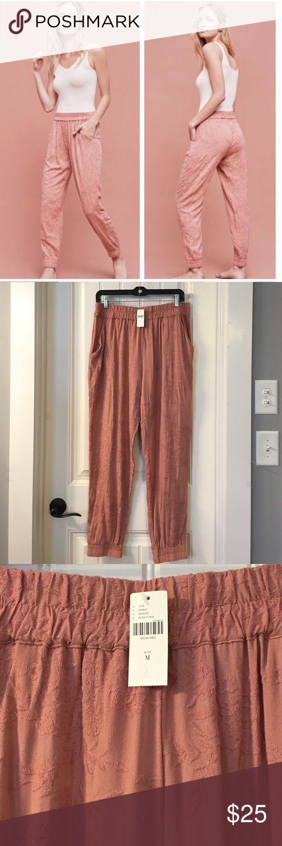 NWT SATURDAY SUNDAY Versa Embroidered Jogger Pants Gorgeous pair of pants that are fully embroidered from waist to hem in a floral design. NWT. Anthropologie Pants