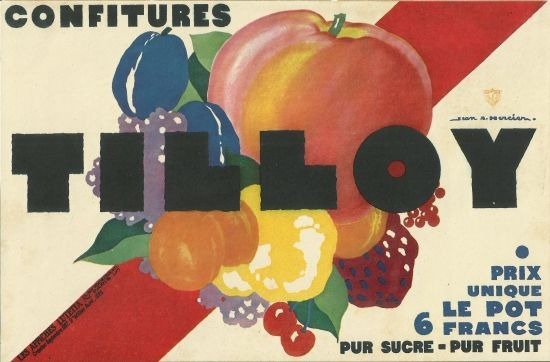 "original art deco print "" poster 1925 france affiche tilloy"