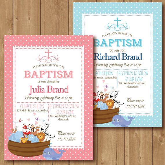 46 best baptism images on pinterest cards first communion and angel baptism invitation noahs ark printable invitation noahs ark baptism intable baptism invitation girl baptismy baptism invitation stopboris Gallery