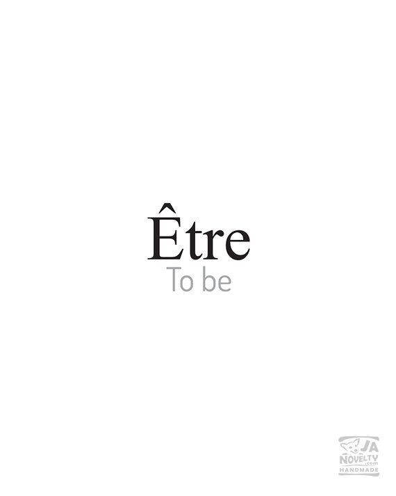 To be Etre French printable French words by JAnoveltyDeSign